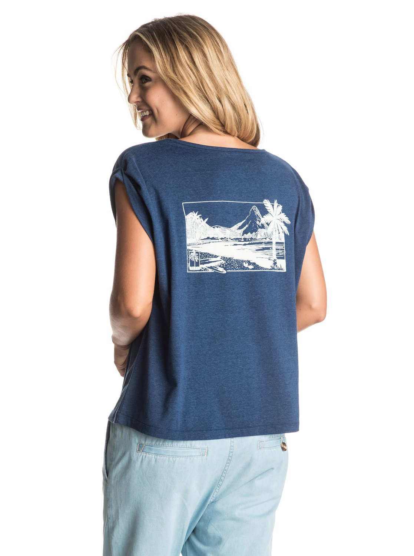 guerrero t shirt mit gekrempelten rmeln 3613372438172 roxy. Black Bedroom Furniture Sets. Home Design Ideas