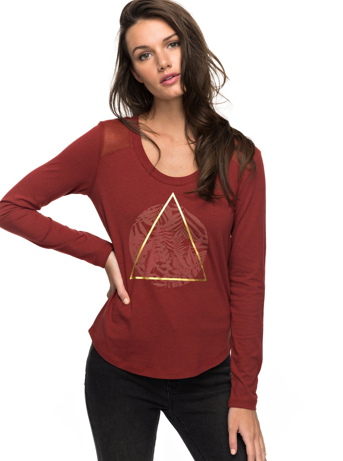 Air Potato Jungly Triangle - Camiseta de Manga Larga para Mujer Roxy