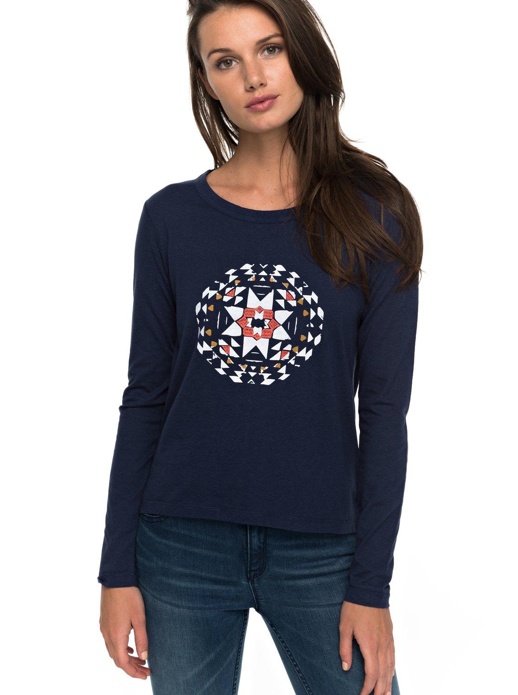 Lily Yucca - Camiseta de Manga Larga para Mujer Roxy