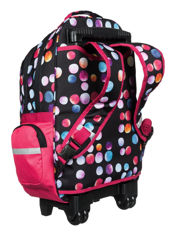 free spirit rolling school backpack erlbp03010 roxy. Black Bedroom Furniture Sets. Home Design Ideas