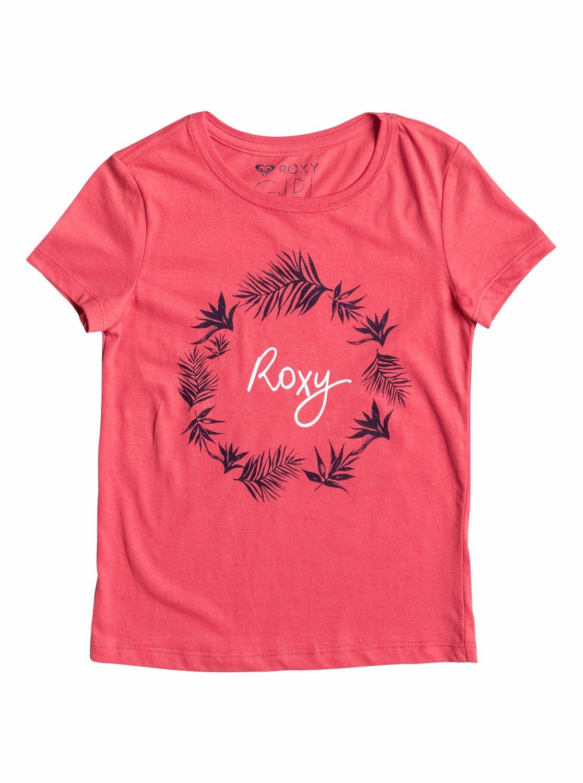 Little BasicФутболка для девочек Little Basic от ROXY. Характеристики: короткие рукава, легкая ткань плотностью 140 г/кв. м, трафаретный принт спереди. СОСТАВ: 100% хлопок.<br>