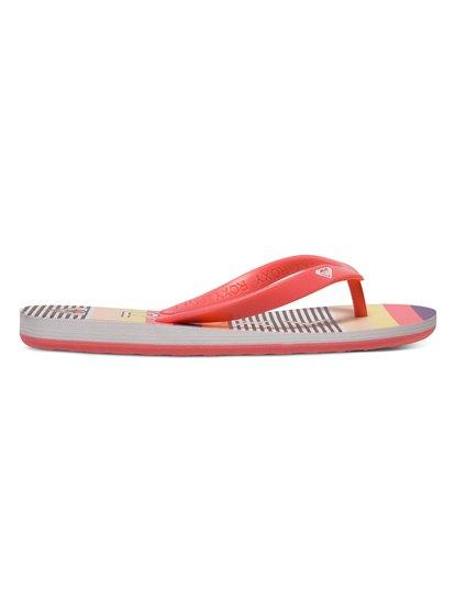 Для девочек (7-14 лет) Tahiti Flip FlopsСланцы для девочек RG Tahiti от ROXY. <br>ХАРАКТЕРИСТИКИ: мягкий каучуковый верх, декоративный логотип-сердечко, стелька с принтом из полимера EVA двойной плотности, яркая подошва из полимера EVA. <br>СОСТАВ: верх–100% пластик, подошва–100% EVA.<br>