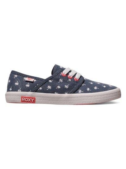 Для девочек (7-14 лет) Hermosa Lace Up ShoesКеды для девочек RG Hermosa –новинка в обувной коллекции ROXY. <br>ХАРАКТЕРИСТИКИ: текстильный верх, мягкие хлопчатобумажные шнурки, каучуковый ярлык с логотипом ROXY. <br>СОСТАВ: верх–95% лён/5% полиэстер, подкладка–100% хлопок, подошва–53.2% полиэстер/46.8% каучук.<br>