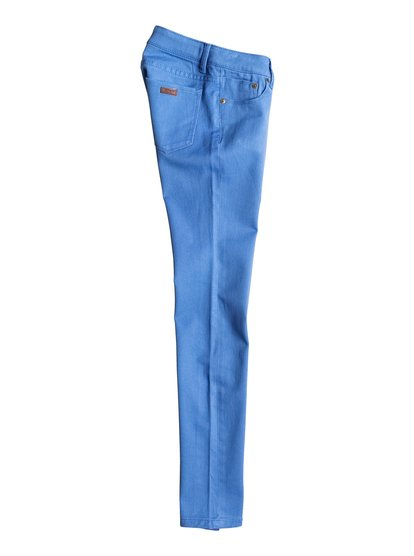 Girls Desert Jean Slim Fit JeansУзкие джинсы для девочек Desert Jean от ROXY.ХАРАКТЕРИСТИКИ: узкий крой, хлопчатобумажная саржа, кожаная нашивка ROXY на правом заднем кармане.СОСТАВ: 98% хлопок, 2% эластан.<br>