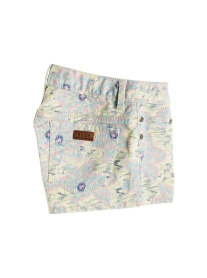 Lisy PrintLisy Print – новинка из коллекции одежды Roxy Весна-лето 2015. Характеристики: джинсовые шорты для девушек, принт Batik или Floral Sky Blues, эластичный хлопок. Дополнительно: пуговицы Roxy, состав – 97% хлопок, 3% эластан.<br>