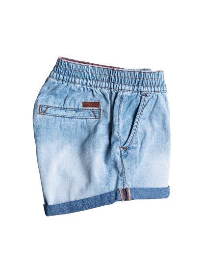 Girls Popular Song Denim ShortsДжинсовые шорты для девочек Popular Song от ROXY. <br>ХАРАКТЕРИСТИКИ: регулируемый ремень, задний карман с отделкой, подвернутые края, кожаная нашивка ROXY на заднем кармане. <br>СОСТАВ: 100% хлопок.<br>