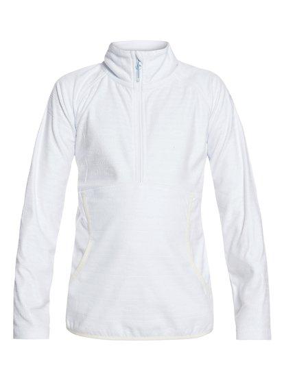 Cascade - Polaire demi-zip technique pour Fille 8-16 ans - Blanc - Roxy