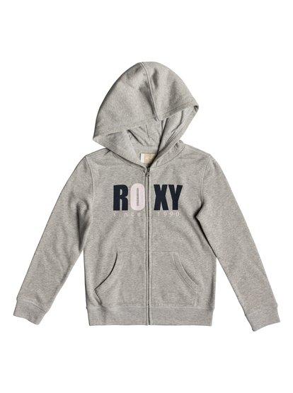 Girl Plans Bold Distress - Sweat à capuche zippé pour Fille 8-16 ans - Gris - Roxy