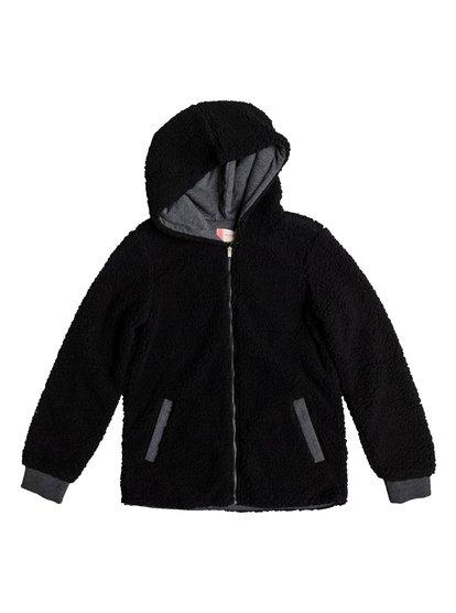 Share New Words - Sweat à capuche zippé pour Fille - Noir - Roxy