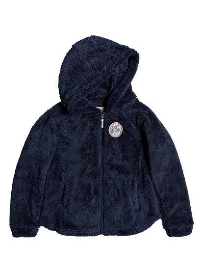 Elastic Heart - Sweat à capuche zippé en sherpa pour Fille 8-16 ans - Bleu - Roxy