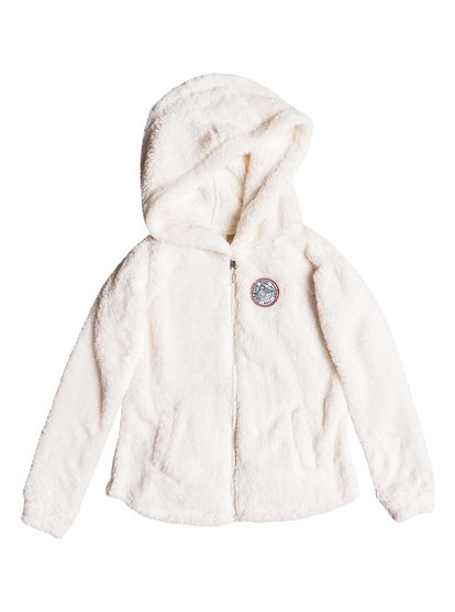 Elastic Heart - Sweat à capuche zippé en sherpa pour Fille 8-16 ans - Blanc - Roxy