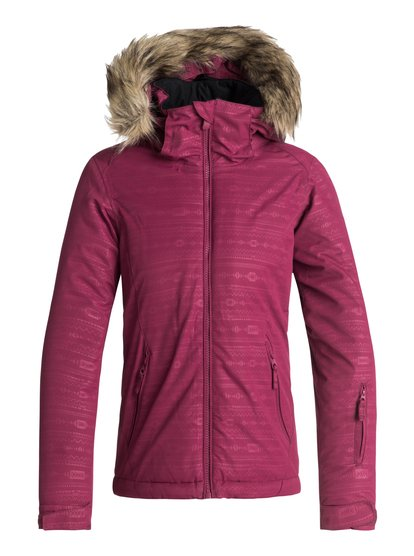 Jet Ski Embossed - Veste de snow pour Fille 8-16 ans - Rouge - Roxy