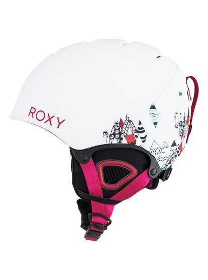 Сноубордический шлем MistyThanks to the ROXY X Sesame Street Collaboration wearing the Misty Girl helmet isnt just safe, its great fun! Our furry friend Elmo has stepped in to brighten up this tough, lightweight and cute-as-can-be snow helmet. A double micro shell with ultralight in-mould construction and EPS shock absorber foam takes care of protection while the mesh and fleece lining, soft thermoformed ear pads with removable sherpa fleece, and integrated fit system ensure a super snug, super safe fit.<br>