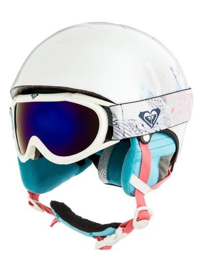 Misty - Pack casque + masque pour Fille 8-16 ans - Blanc - Roxy