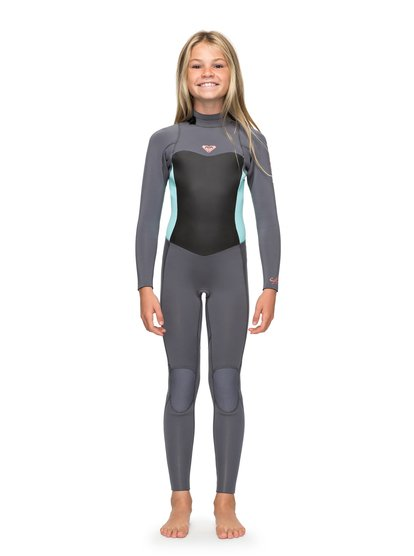 3/2mm Syncro Series - Combinaison GBS back zip pour Fille 8-16 ans - Vert - Roxy
