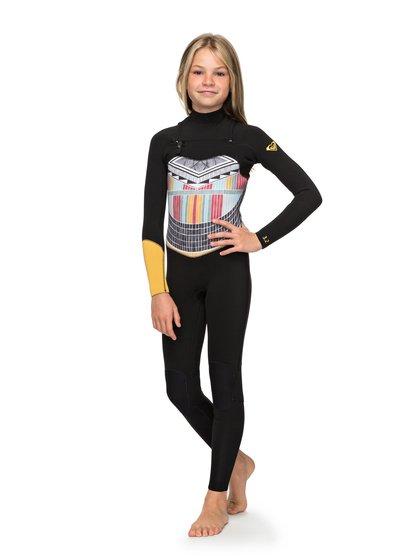 3/2mm POP Surf - Combinaison zip poitrine pour Fille 8-16 ans - Noir - Roxy