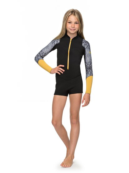 2mm POP Surf - Springsuit manches longues front zip pour Fille 8-16 ans - Noir - Roxy