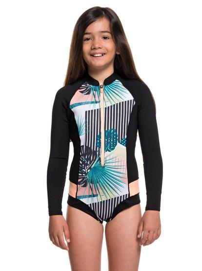 Imagem de 1mm POP Surf - Long Sleeve Front Zip Bikini Cut Shorty for Girls 8-16 - Negro - Roxy