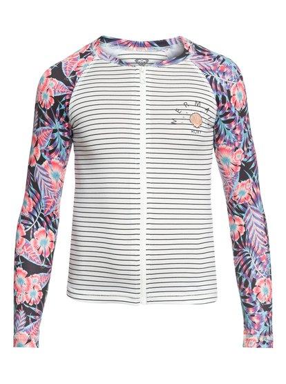 Sunset Only - Lycra manches longues zippé UPF 50 pour Fille - Blanc - Roxy