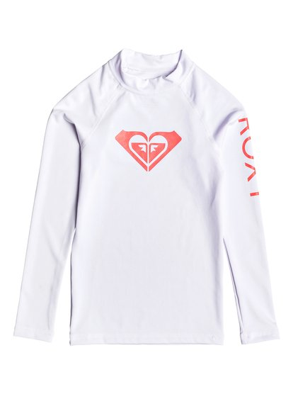 Whole Hearted - Lycra manches longues UPF 50 pour Fille - Blanc - Roxy