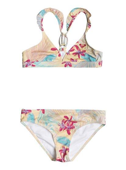 Salt Memory - Ensemble de bikini triangle fixe pour Fille - Jaune - Roxy