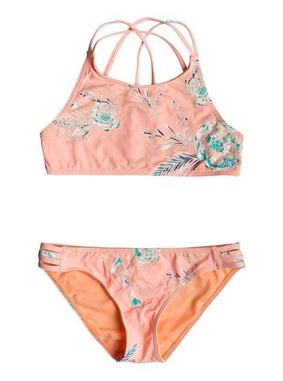 Darling Girl - Ensemble de bikini crop-top pour Fille 8-16 ans - Rose - Roxy