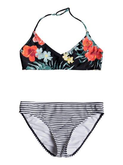 Happy Spring - Haut de bikini bralette triangle pour Fille 8-16 ans - Noir - Roxy