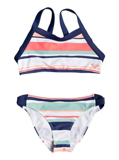 Happy Spring - Ensemble de bikini crop-top pour Fille 8-16 ans - Blanc - Roxy