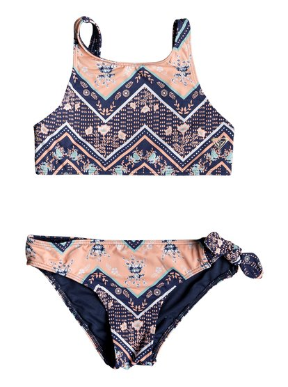 Heart In The Waves - Ensemble de bikini crop-top pour Fille 8-16 ans - Bleu - Roxy