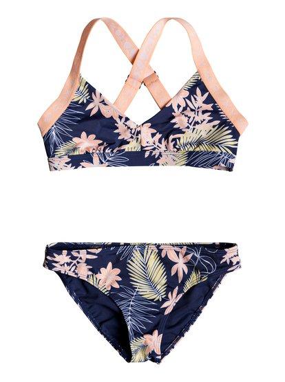 Bikini Point - Ensemble de bikini Sporty tri pour Fille 8-16 ans - Bleu - Roxy