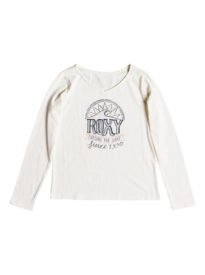 Say Something - T-shirt manches longues pour Fille 8-16 ans - Blanc - Roxy