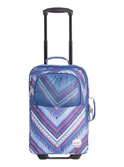 Womens Wheelie Roller SuitcaseЖенский чемодан на колесах Wheelie от ROXY. <br>ХАРАКТЕРИСТИКИ: удобные упругие колесики, подходящий размер для ручной клади, сплошной принт, двойное основное отделение на молнии. <br>СОСТАВ: 100% полиэстер.<br>