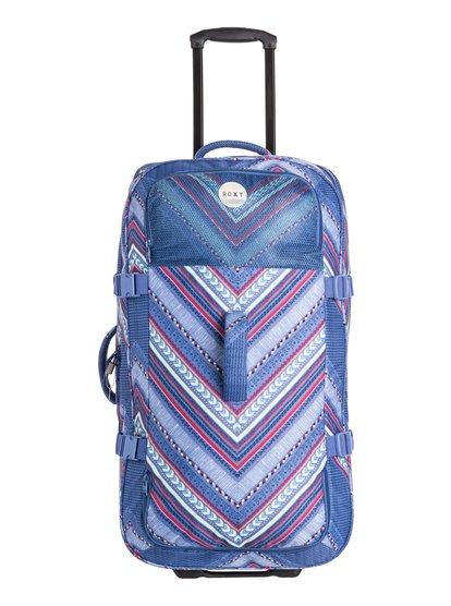 Womens Long Haul Wheeled SuitcaseЖенский чемодан на колесах Long Haul от ROXY.ХАРАКТЕРИСТИКИ: очень большой объем, удобные упругие колесики, сплошной принт, одно основное отделение.СОСТАВ: 100% полиэстер.<br>