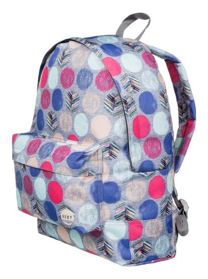 Womens Sugar Baby BackpackЖенский рюкзак Sugar Baby от ROXY. <br>ХАРАКТЕРИСТИКИ: сплошной принт, одно основное отделение, передний карман на молнии, регулируемые уплотненные заплечные лямки. <br>СОСТАВ: 100% полиэстер.<br>