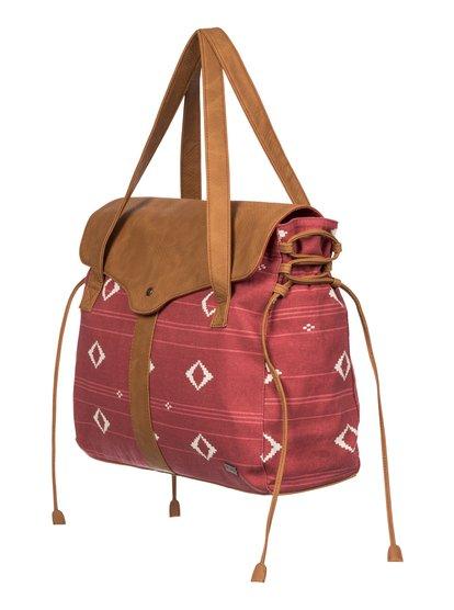 Womens With Vibes Shoulder BagЖенская сумка With Vibes от ROXY. <br>ХАРАКТЕРИСТИКИ: прочная парусина, фактурная отделка кожзаменителем, декоративные кисточки по бокам, застегивается на молнию. <br>СОСТАВ: 90% хлопок, 10% полиэстер.<br>
