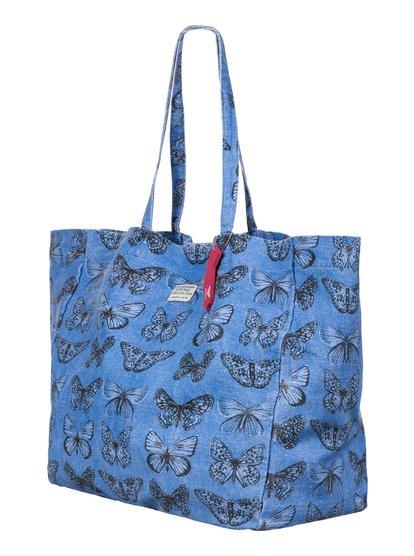 Bay Checkerspot Beach ToteЖенская пляжная сумка-тоут Bay Checkerspot от ROXY.ХАРАКТЕРИСТИКИ: большой размер, льняная ткань, мягкая форма без каркаса, на липучке Velcro.СОСТАВ: 100% лён.<br>