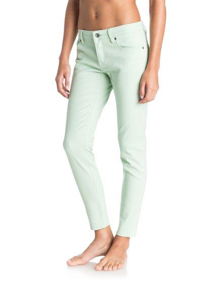Pixie ColorsPixie Colors – новинка из коллекции одежды Roxy Весна-лето 2015. Характеристики: женские джинсы, эластичный деним из хлопка неровной вязки, ткань средней плотности. Дополнительно: одноцветная модель, состав – 98% хлопок, 2% эластан.<br>