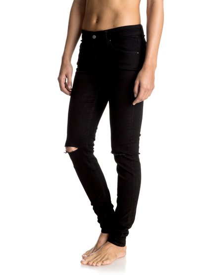Rebel Come - Skinny JeansBlack, skinny, and high-waisted with rips at the knees, these womens jeans will complete any urban silhouette. Match with the Easky knotted shirt for ultimate monochrome cool. Part of the La Isla Cuba Collection.<br>