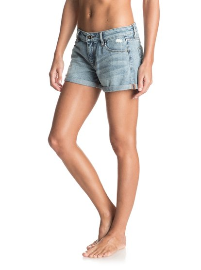 Midtown Vintage Med Blue Denim Shorts