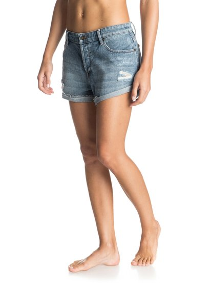The Biker Denim ShortsЖенские джинсовые шорты The Biker от ROXY.ХАРАКТЕРИСТИКИ: хлопчатобумажный деним, средняя длина, классический винтажный синий цвет.СОСТАВ: 100% хлопок.<br>
