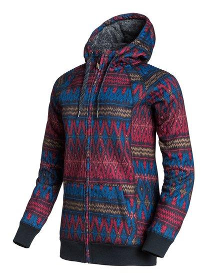 Resin Bonded SherpaЖенская худи на молнии Resin Bonded Sherpa из сноубордической коллекции Roxy. ХАРАКТЕРИСТИКИ: фиксированный капюшон, капюшон на утяжке, теплые карманы для рук с подкладкой из шерпы, манжеты и подол в рубчик. СОСТАВ: 100% полиэстер.<br>