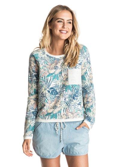 Whitewater Waves - Cropped Sweatshirt  ERJFT03483
