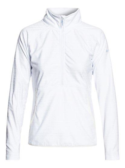 Cascade - Polaire demi-zip technique pour Femme - Blanc - Roxy