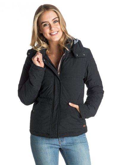FreedomЖенская куртка Freedom от ROXY. Характеристики: подкладка в полоску, накладные передние карманы, отделка тесьмой в горошек спереди. СОСТАВ: 70% хлопок, 30% нейлон.<br>