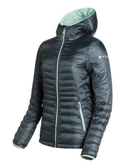 HighlightЖенская куртка с утеплителем Highlight из сноубордической коллекции Roxy. ХАРАКТЕРИСТИКИ: компактно убирается в свой же карман, фиксированный капюшон, карманы на молнии, вставки из лайкры. СОСТАВ: 100% полиэстер.<br>