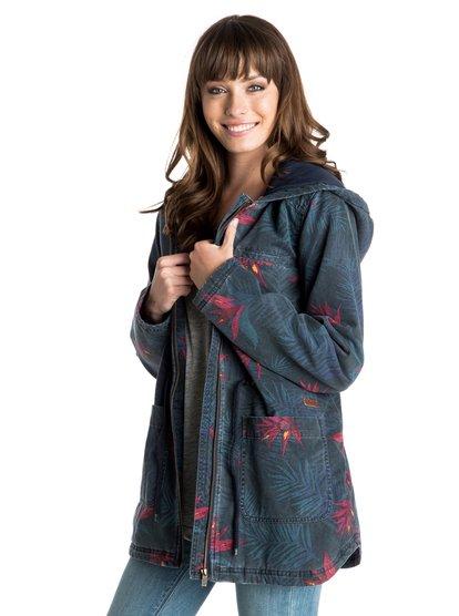Primo PrintedЖенская куртка Primo с принтом от ROXY. Характеристики: уплотненный дизайн, бледный принт с гавайскими пальмами, застегивается на молнию, отделка контрастной бейкой. СОСТАВ: 100% хлопок.<br>