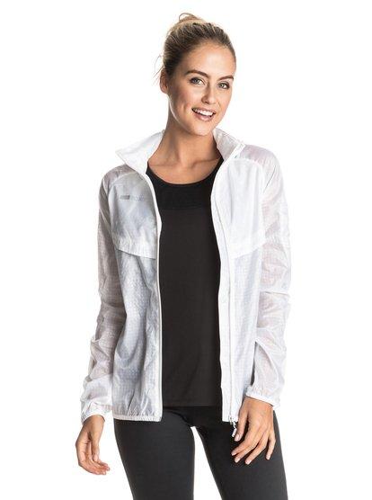 Ветровка TricabeeЯрко-белая спортивная ветровка из чуть прозрачной легкой ткани замечательна своим изящным минимализмом и дополнена вентиляцией на груди; вы можете убрать ее капюшон внутрь воротника, так что у вас в каком-то смысле получается две куртки в одной – и два разных стиля! Очень практично.<br>