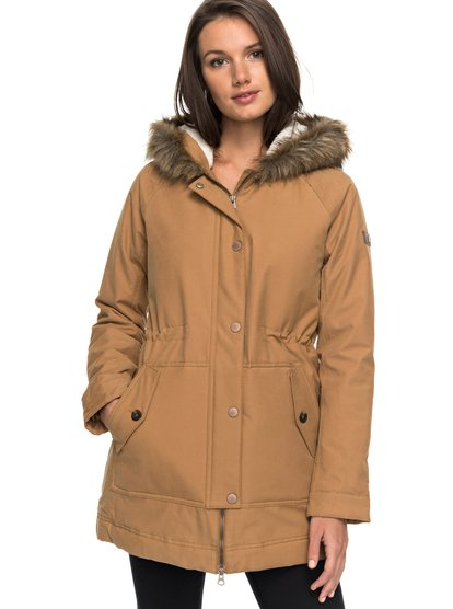 Mountain Song - Longline Hooded Jacket with Faux Fur  ERJJK03195