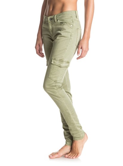Cargo City - Cargo PantsGet ready for adventure with these stretch cargo pants. Cut skinny in military-coloured sateen fabric the Cargo City ensures comfort and style wherever your next getaway takes you.<br>