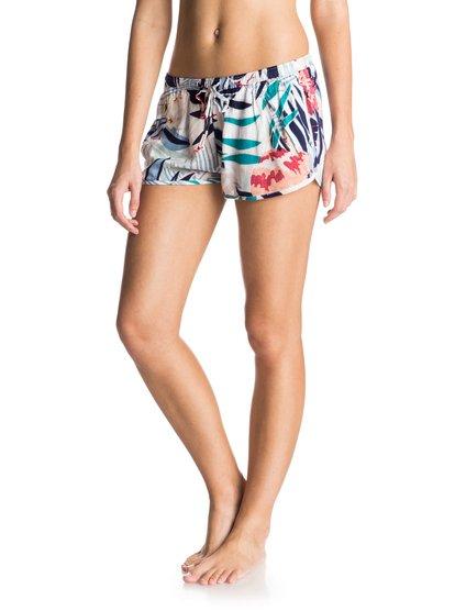 Пляжные шорты Run AwayЖенские шорты Run Away Beach от Roxy.ХАРАКТЕРИСТИКИ: тканое полотно с принтом, эластичный пояс, идеальный вариант для поездки на пляж, передние карманы.СОСТАВ: 100% вискоза.<br>